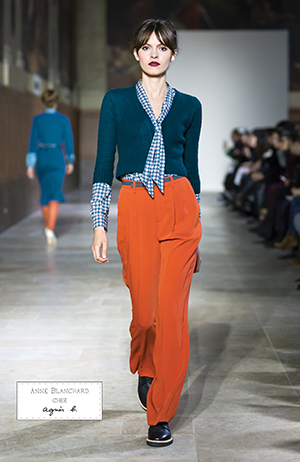 590065f66b0f petit cardigan en laine mérinos bleu canard chemise col cravate en coton  imprimé vert bleu
